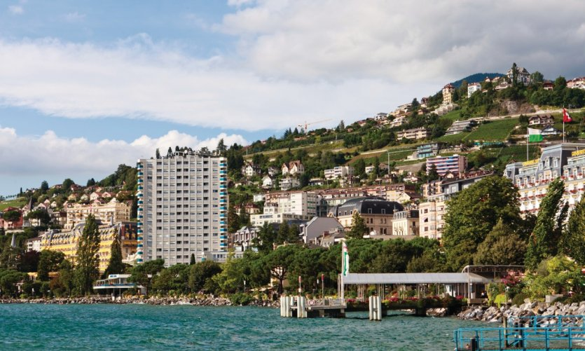Flowery banks of Montreux.