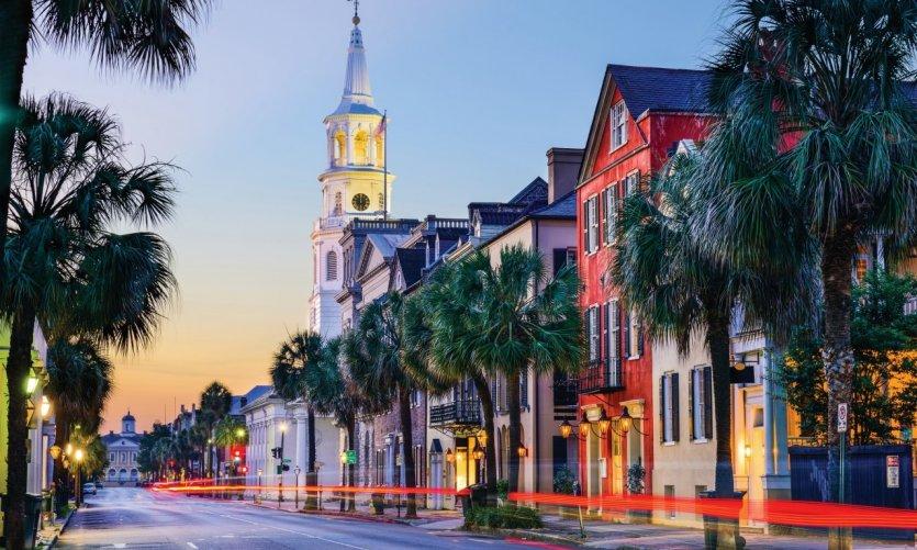 La animada ciudad de Charleston.