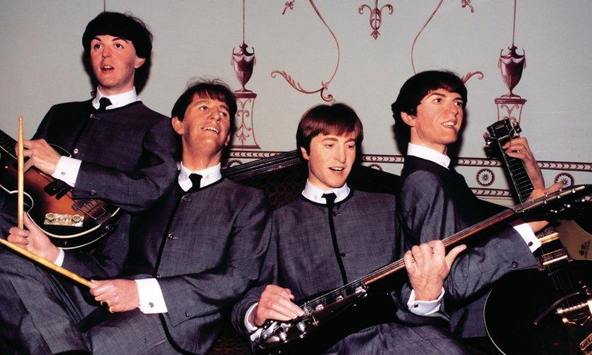 Les Beatles au musée de Madame Tussauds, quartier de Marylebone.