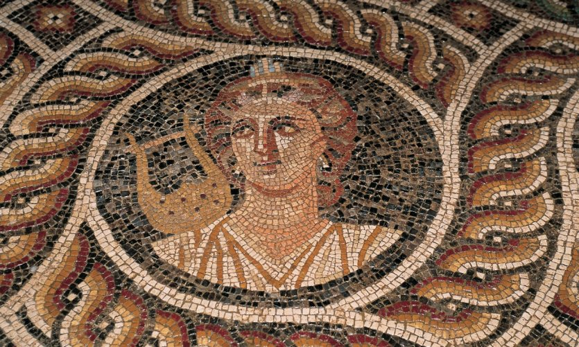 Palace of the Grand masters, a mosaic of the island of Kos.