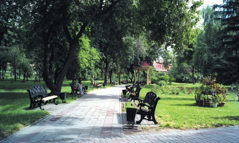 Park of the city of Oust-Kamenogorsk.