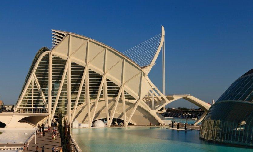 Le musée des Sciences Príncipe Felipe dessiné par l'architecte Santiago Calatrava.