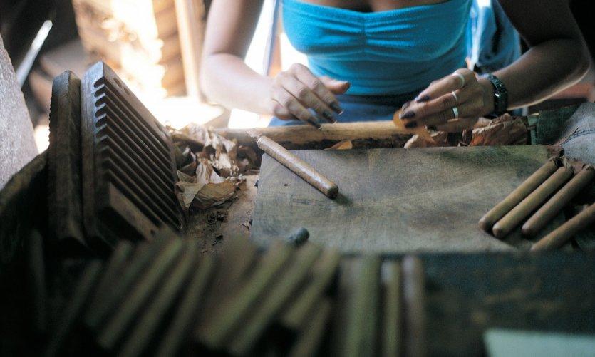 Fabrique de cigares de La Havane.