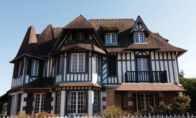 Maison traditionnelle de Deauville.