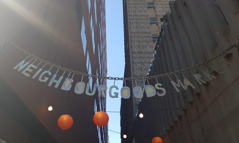 Le marché branché de Neighbourgoods le samedi.