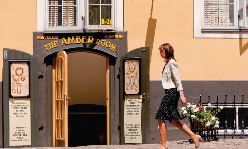 Boutique proposant des bijoux en ambre, Torna Iela.
