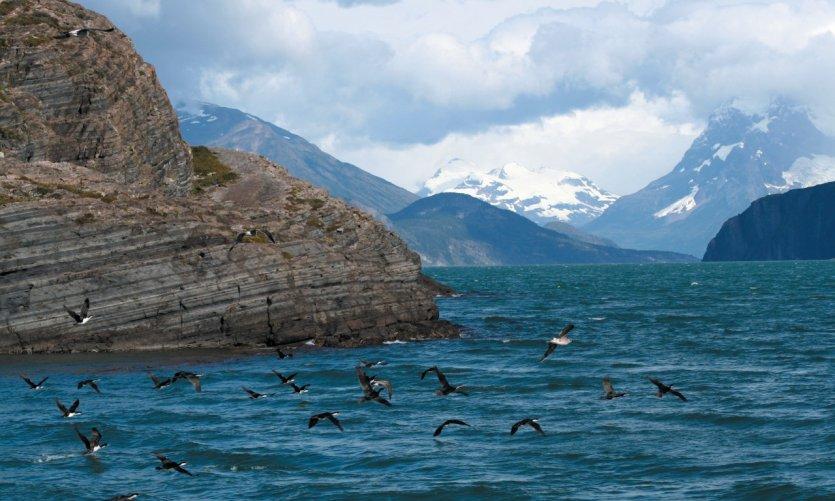 Navigation vers le glacier Balmaceda
