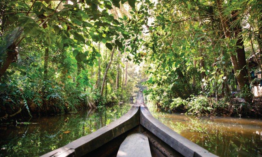 <p>Backwaters Kerala, vers Kochi.</p>