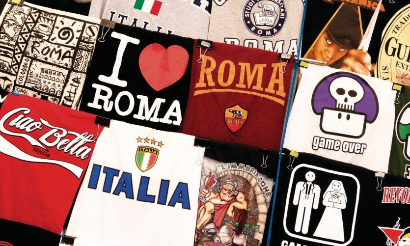 T-shirt mettant Rome à l'honneur.