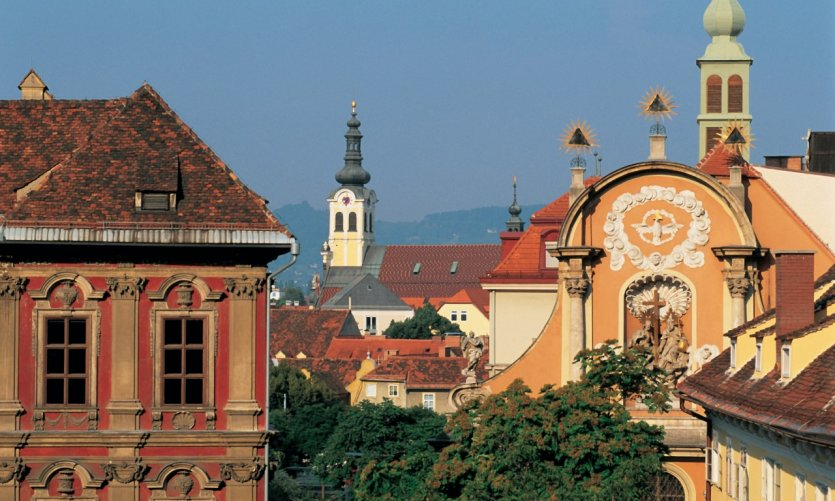 View of the town of Graz.