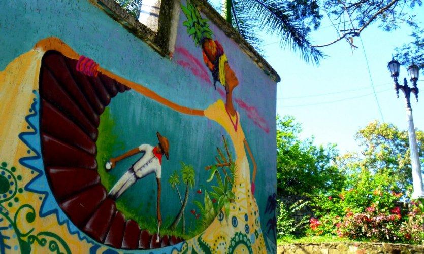 Graffiti évoquant la culture du pacifique
