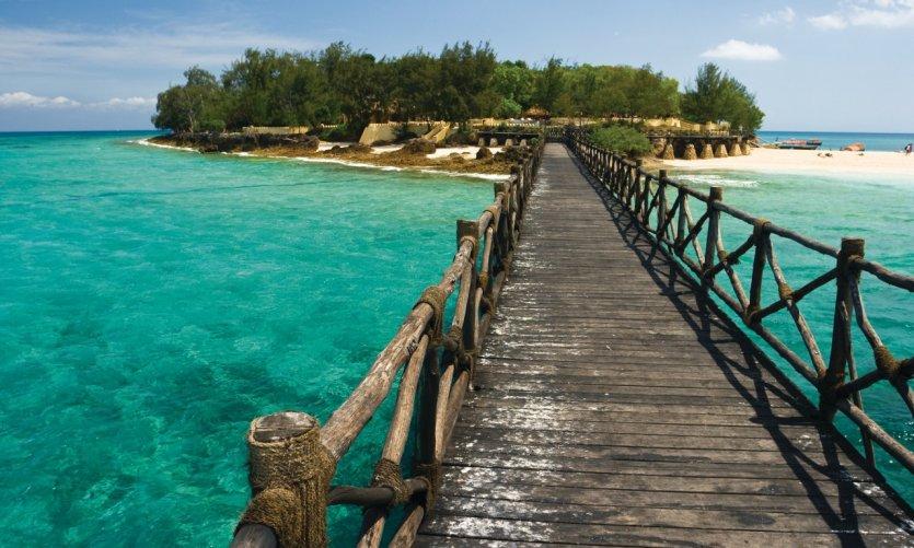 Ponton menant à Changuu Island.