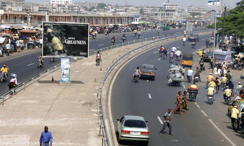 <p>En el centro de Cotonou.</p>