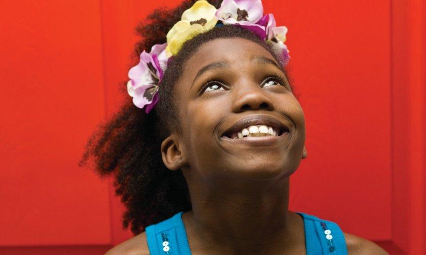 Jeune fille haïtienne.