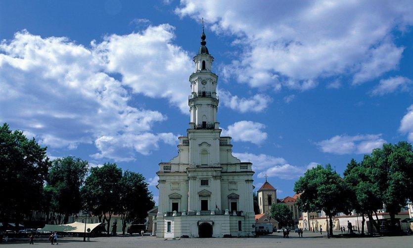 <p>Hotel de ciudad de Kaunas en la plaza Rotušės.</p>