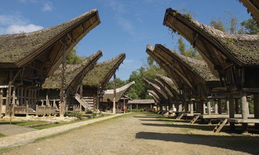 Village de Kete Kesu, maisons Torajas.