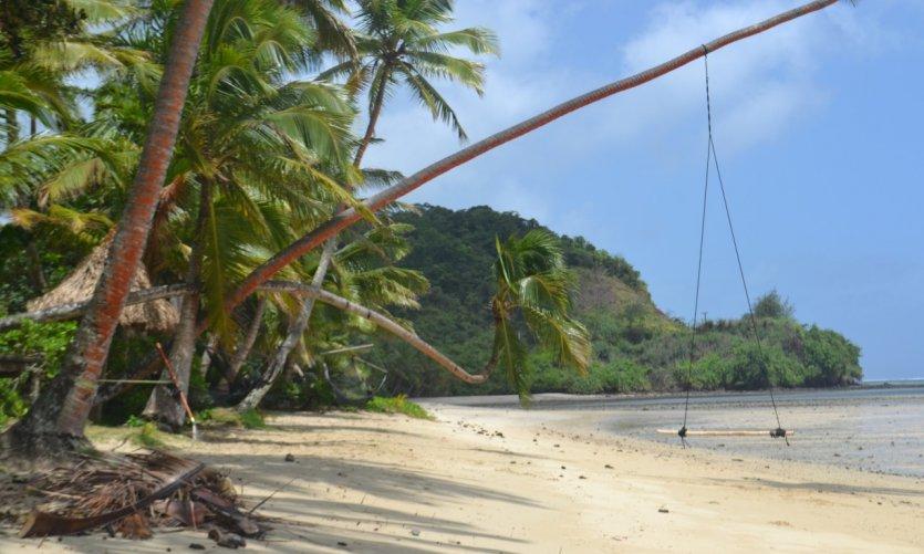Plage de rêve sur la Coral Coast, Viti Levu.