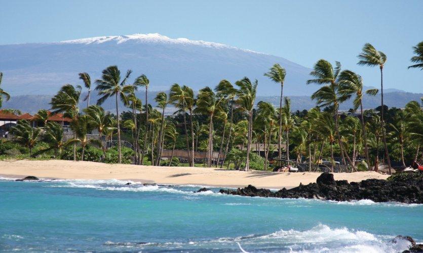 Plage et Mauna Kea.