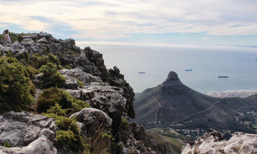 Lion's Head vu de Table Mountain
