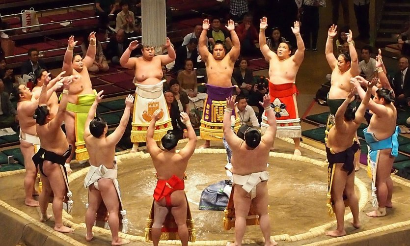 Sumotori au Ryogoku Kokugikan, Tokyo.
