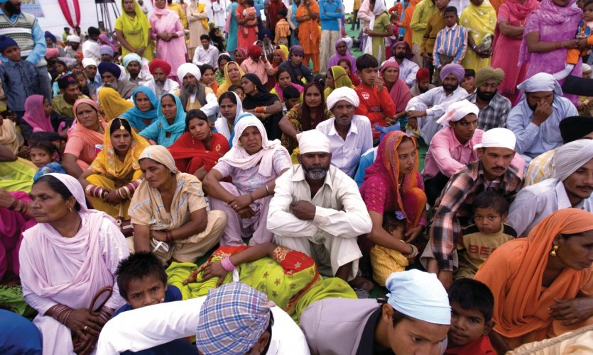 Rassemblement de sikhs à Tarn Taran.