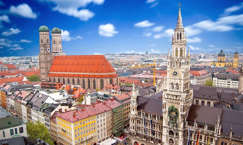 Vue sur la ville de Munich.