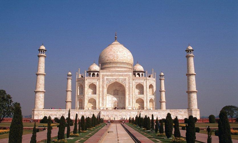 Le Taj Mahal est un des immanquables de l'Inde.