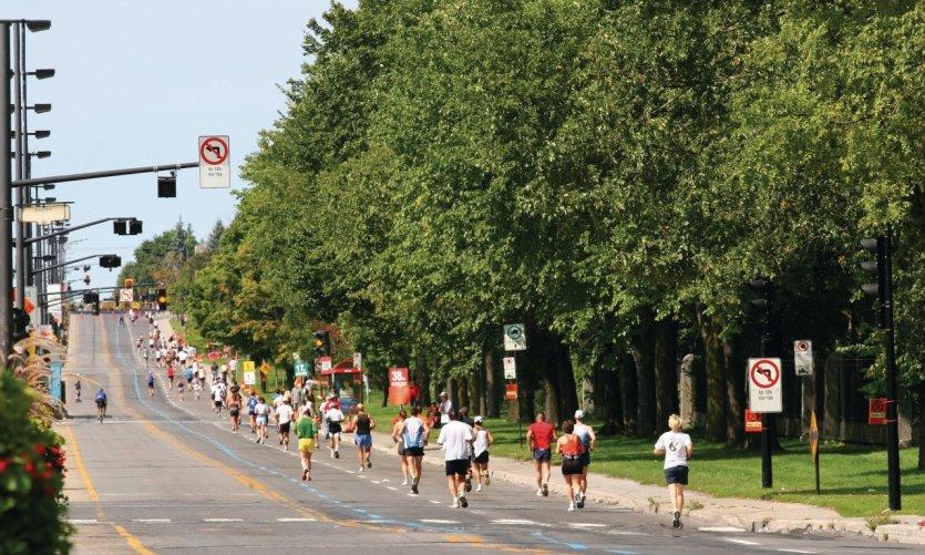 Coureurs lors du marathon de Montréal.