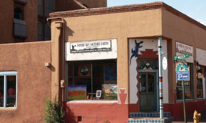 Une boutique typique de Santa Fe au Nouveau-Mexique.