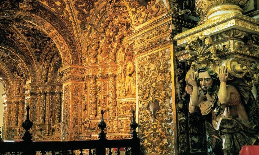 Intérieur de l'église São Francisco.
