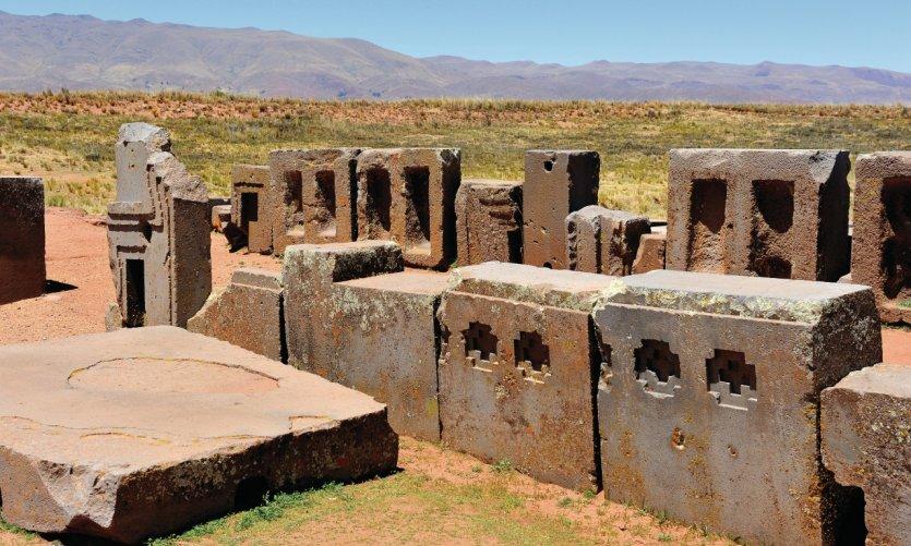 Site archéologique de Tiwanaku.