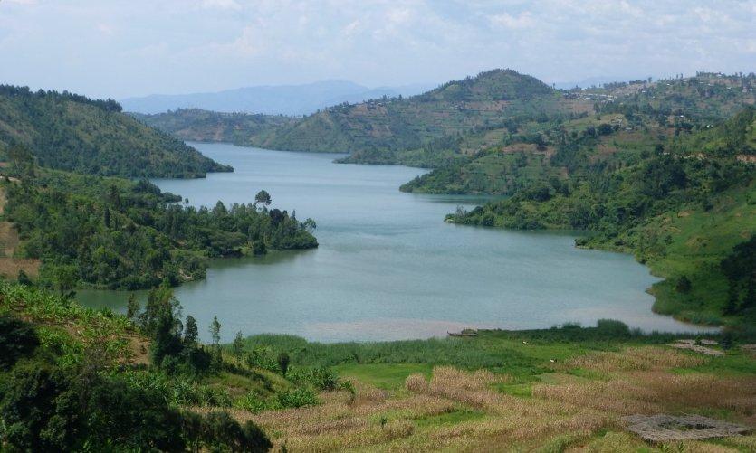 Le lac Kivu près de Kibuye.