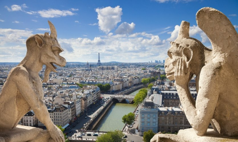 Les gargouilles de Notre-Dame surplombent Paris.
