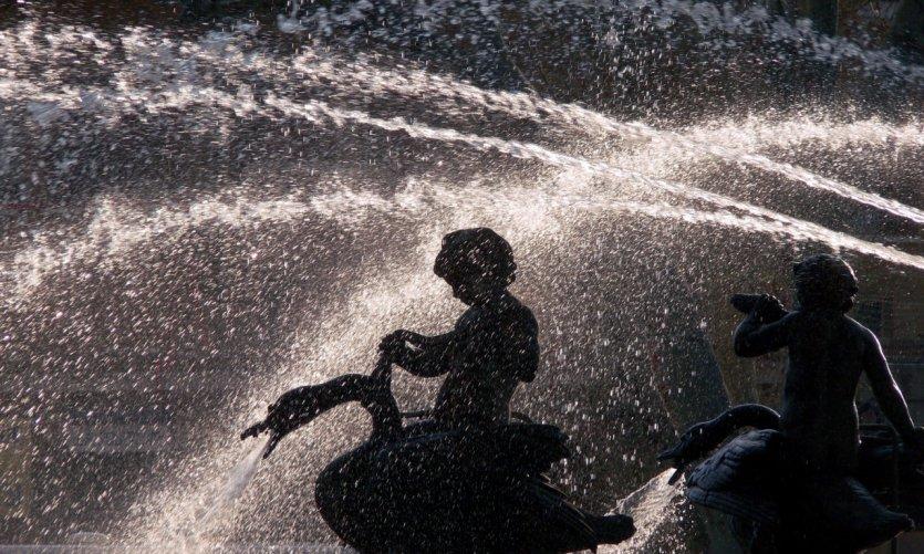 Détail de la fontaine de la Rotonde - Aix-en-Provence