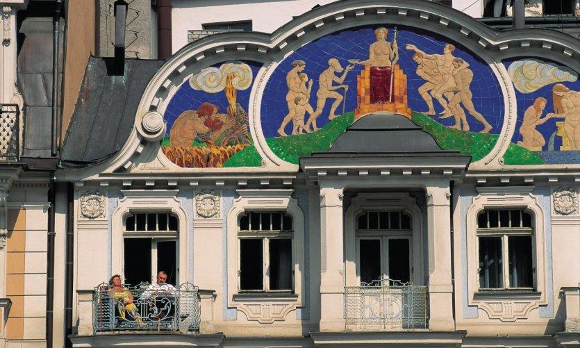 Immeuble Art nouveau à Prague.
