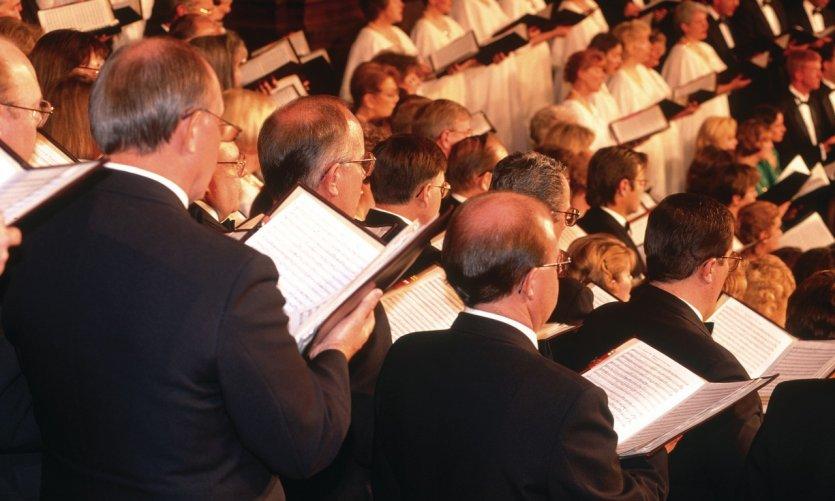 Chorale du temple Mormon.