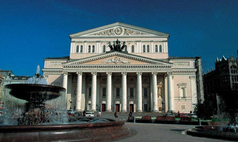 Le théâtre du Bolchoï à Moscou.