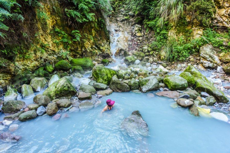 Sources chaudes dans le parc national de Yangmingshan. (© weniliou - Shutterstock.com))