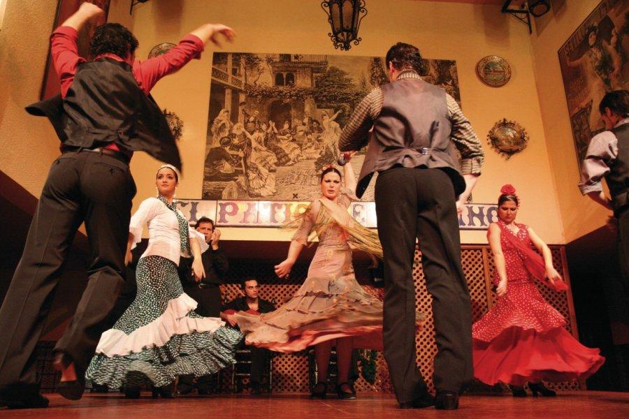 Spectacle de flamenco à El Patio Sevillano. (© Stéphan SZEREMETA))