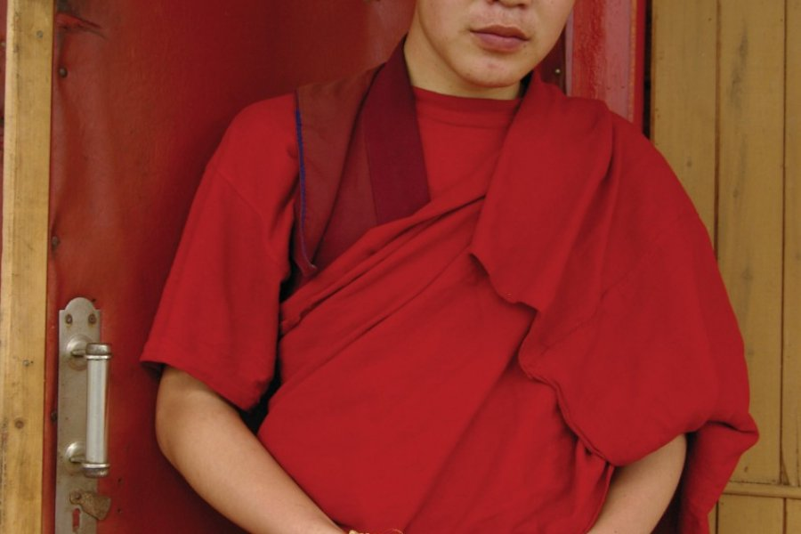 Moine bouddhiste au monastère Ivolginsk Datsan (© Stéphan SZEREMETA))
