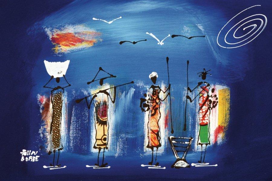 Peinture artisanale. (© Author's Image))