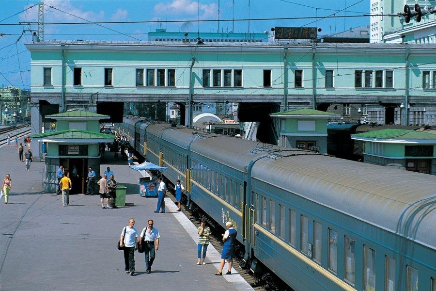 La gare centrale de Novossibirsk, plus grande gare ferroviaire de Sibérie (© Stéphan SZEREMETA))