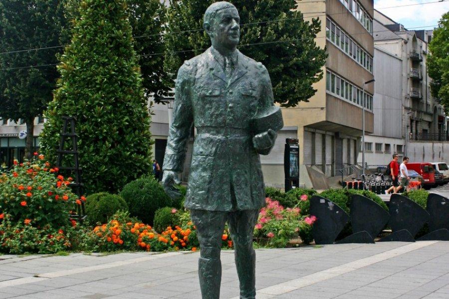 La statue du général de Gaulle à Nantes (© Nool - Fotolia))