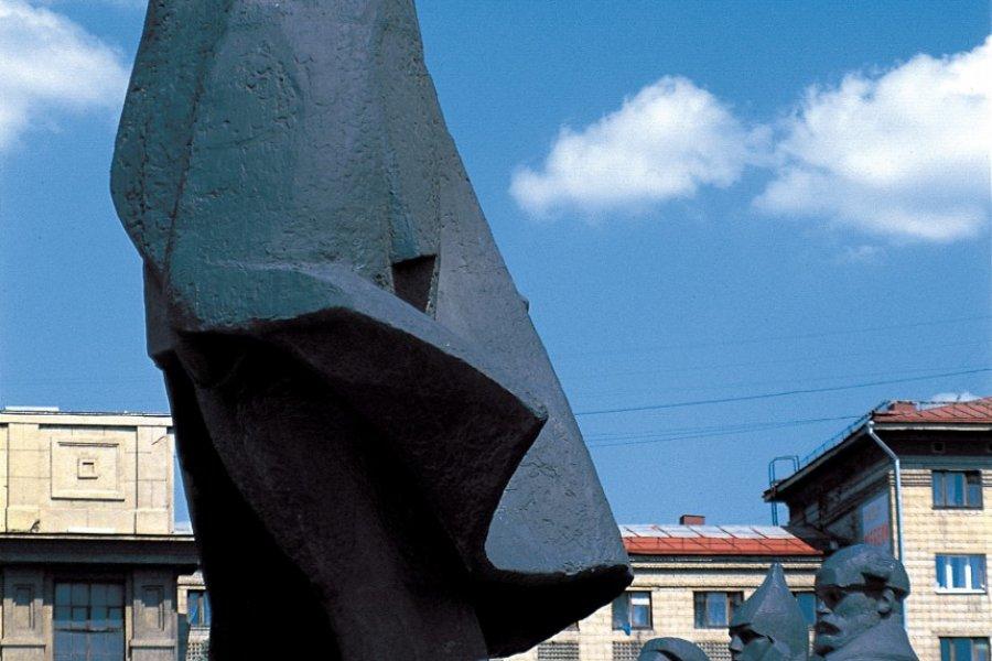 Statue de Lénine à Novossibirsk (© Stéphan SZEREMETA))