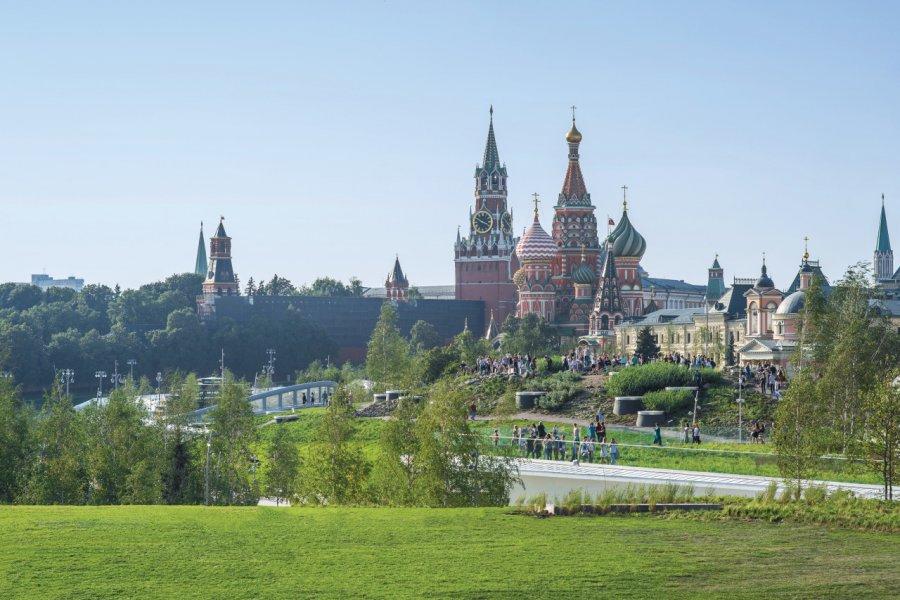 Vue sur le Kremlin, depuis le parc Zaryadyé. (© Parshina Olga))
