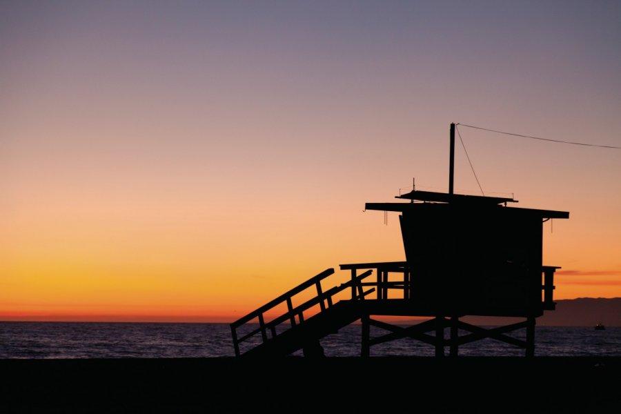 Tour de surveillance sur Venice Beach. (© David GUERSAN - Author's Image))
