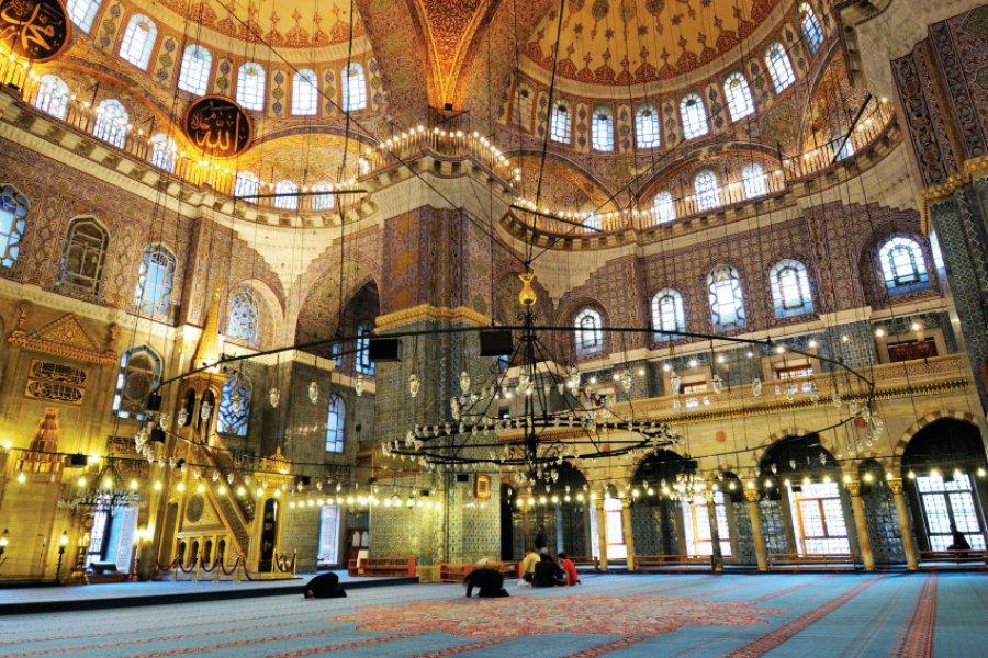 Intérieur de la mosquée bleue d'Istanbul. (© Burak DEMIR))