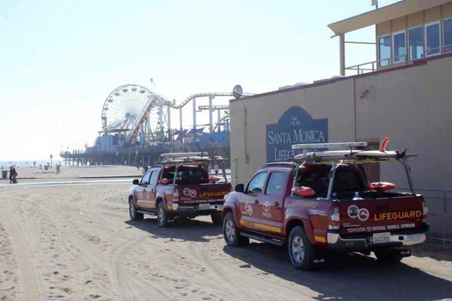 Santa Monica et ses célèbres voitures de secouristes. (© Jean-Baptiste THIBAUT))