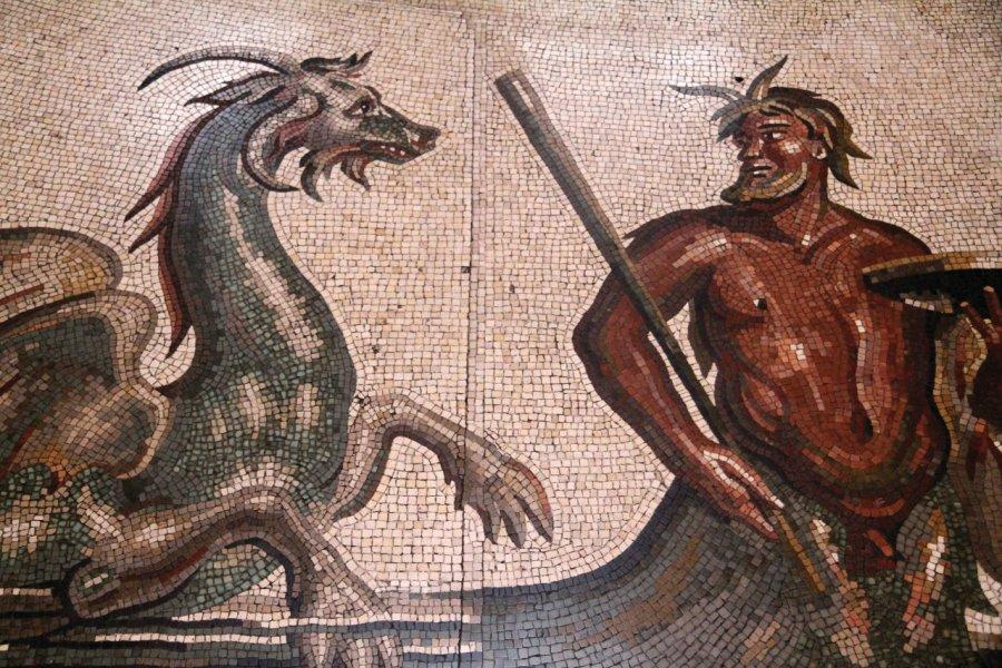Mosaïque au musée Pio-Clementino. (© Stéphan SZEREMETA))