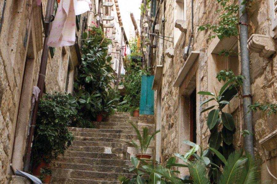 Balade dans les petites ruelles de Dubrovnik. (© Lawrence BANAHAN - Author's Image))